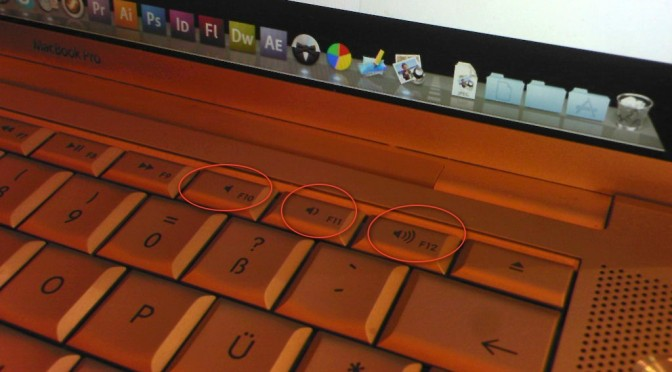 Lautstärkereglung auf der Tastatur