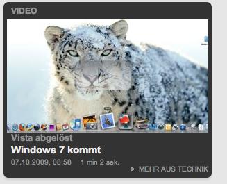 Bild von Snow-Leopard als Bild für Windows 7