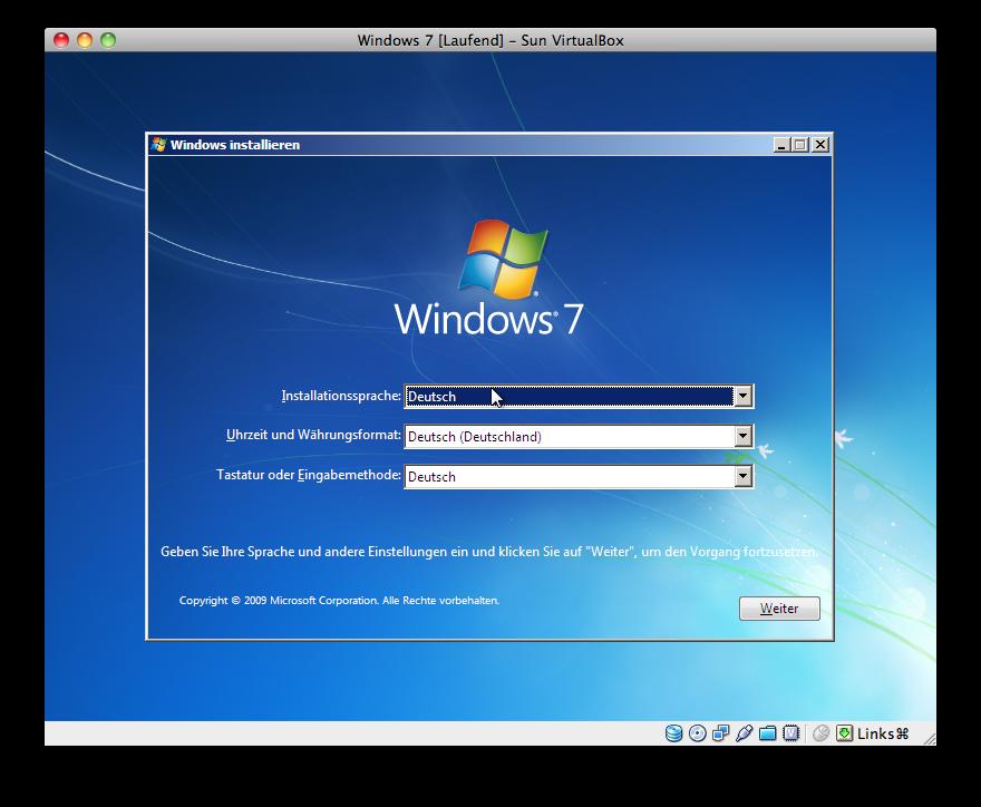Windows 7 - Sprachinformationen