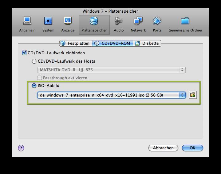 Virtual Box - ISO-Image als DVD-Laufwerk