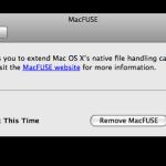 MacFUSE in den Systemeinstellungen
