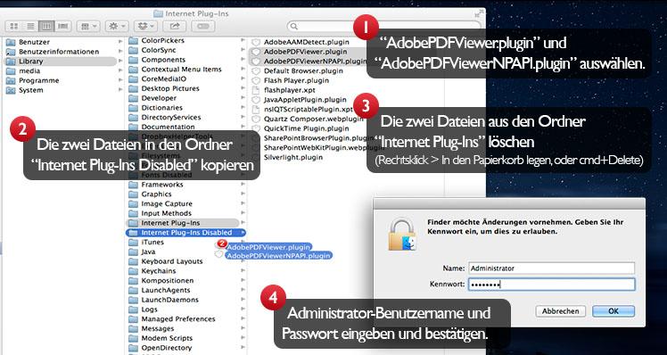 Adobe Internet PDF-Plugins löschen
