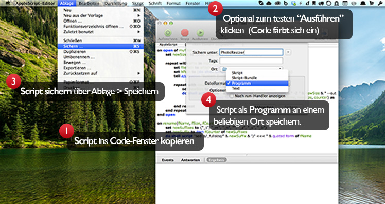 PhotoResizer AppleScript erstellen
