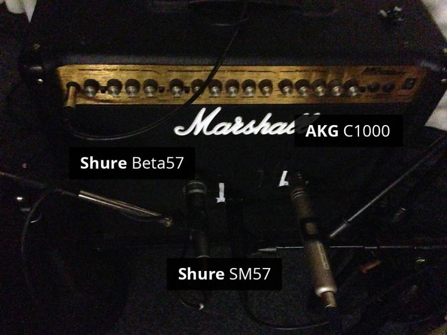 Mikrofontest am E-Gitarren Amp: Shure SM57 und Beta57 gegen AKG C1000