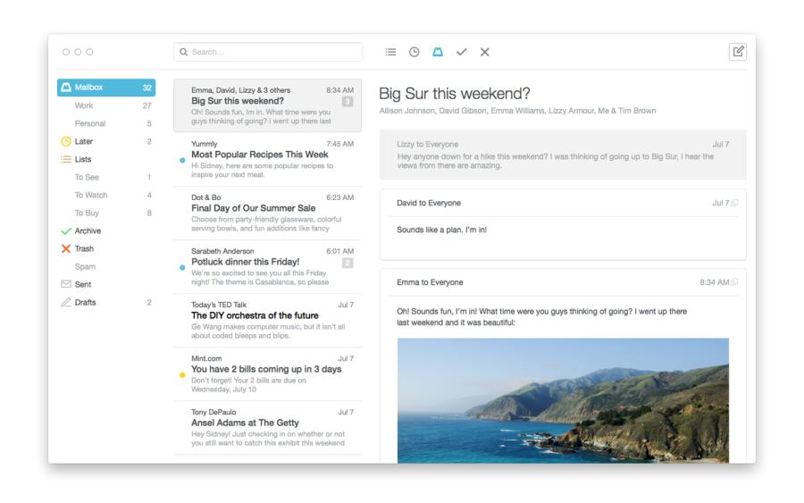 Mailbox-App auf dem Mac