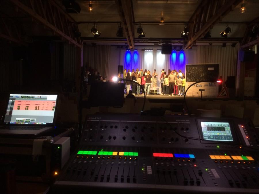 Probecamp im JMS Altensteig. Hier wurde das Musical zwei mal komplett durchgeprobt.